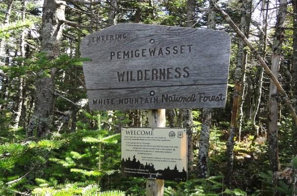 Pemigewasset Wilderness Sign