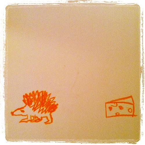 Der Igel und der Käse
