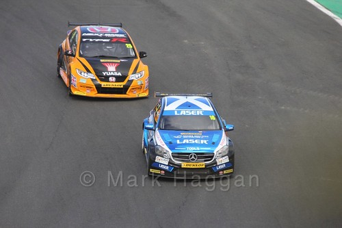 Matt Neal and Aiden Moffat during the BTCC Brands Hatch Finale Weekend October 2016