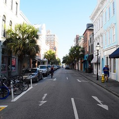 The Road Ahead. Day 59. King Street in Charleston, SC. Thanks to a friend I'm able to store my cart for the day and walk with just a backpack. #TheWorldWalk #Charleston #sc #travel #city #wwtheroadahead