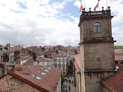 Rua do Franco from the Balcony at the Santiago Cathedral - Tapas central