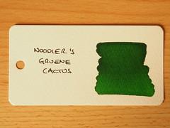 Noodler's Gruene Cactus - Word Card
