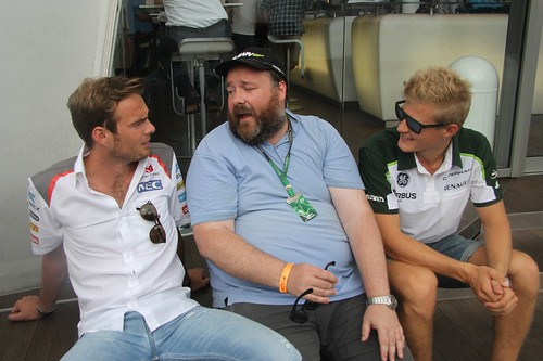 Me chatting to Giedo van der Garde and Marcus Ericsson