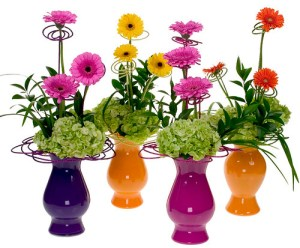 Sunshine Glitter Bouquets — David Kesler, Floral Design Institute, Inc., in Portland, Ore.