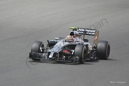 Kevin Magnussen during The 2014 British Grand Prix