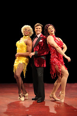 (L to R) Thay Floyd (Mercedes), Brent Barrett (Georges) and Steve Schepis (Hanna) in La Cage aux Folles, produced by Music Circus at the Wells Fargo Pavilion August 19-24, 2014. Photos by Charr Crail.