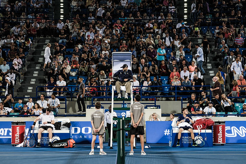 """The Umpire calls """"Time"""" during the Andy Murray vs David Goffman match • <a style=""""font-size:0.8em;"""" href=""""http://www.flickr.com/photos/125636673@N08/31873208901/"""" target=""""_blank"""">View on Flickr</a>"""
