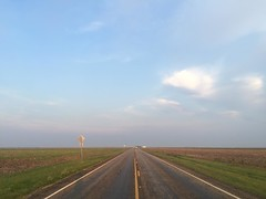 The Road Ahead. Day 164. Rt. 70 outside Bishop, TX. Temp dropped real low last night so made for a good night sleep. Was too cloudy for the eclipse though. Website is still screwy, hoping it'll be back up soon. #TheWorldWalk #texas #travel #wwtheroadahead
