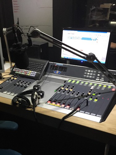 Today is all about...getting to know my way around a radio desk