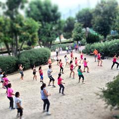 Small prople #aerobic #sport #park #madrid #spain