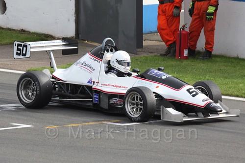 David Cooper in Formula Jedi racing at Donington, September 2015