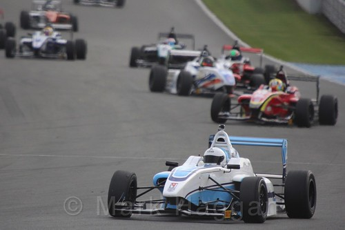 Douglas Motorsport's Akhil Rabindra in BRDC F4 Race two at Donington Park, September 2015