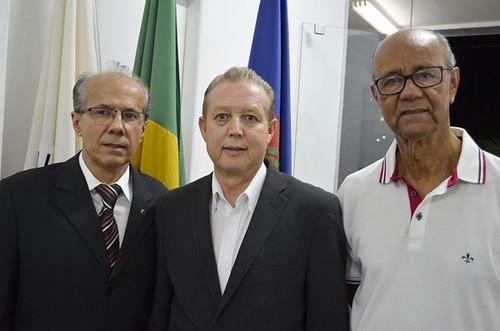 Benedito Pacífico, Marcus Vinícius Bizarro, Paulo Cesar Pedrosa e José Maria Facundes - Inauguração da sede do Sindhorb - Foto Emmanuel Franco (3)