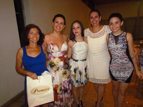 Rosana, Maria Angélica, Maira Lui´za, Carol e Isabela