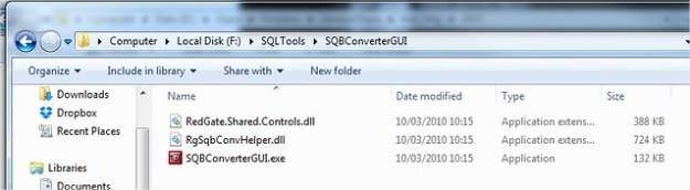 SQBConverterGUI Tool to convert Redgate Database Backup file to .BAK