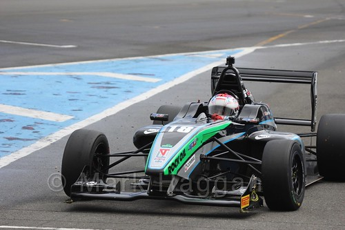 Sean Walkinshaw Racing's Zubair Hoque in BRDC F4 at Donington Park, September 2015