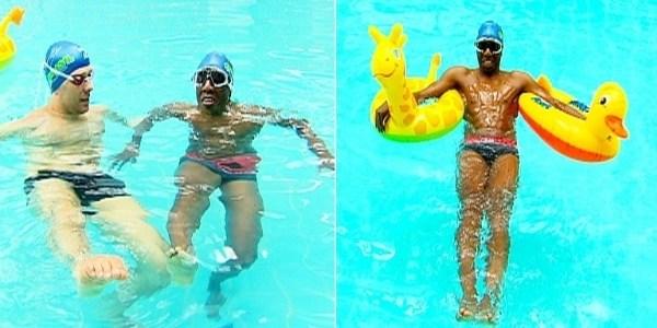 """Ex-""""Fazenda"""", Amaral aprende a nadar na Record: """"Saí do mar de helicóptero"""""""
