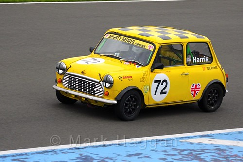 Morgan Harris in Mighty Minis at Donington Park, October 2015