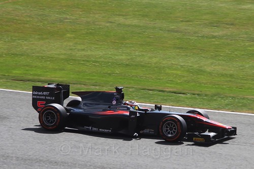Stoffel Vandoorne in the GP2 Feature Race at the 2015 British Grand Prix at Silverstone
