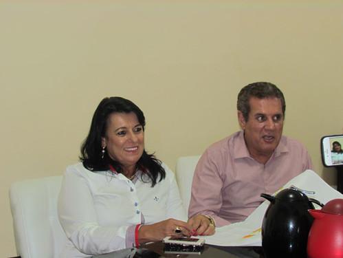 Mara Vilar, vice-presidente social do grupo familiar Todos Empreendimentos, e Altair Vilar, seu marido e presidente da empresa