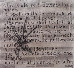 Diario dell'11, acquaforte, stampa con fondino di giornale, 2012