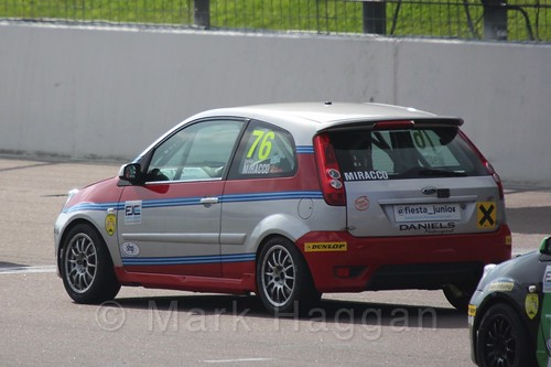 Carlito Miracco in Race 1, Fiesta Junior Championship, Rockingham, Sept 2015