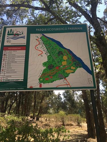 À seulement 1h de route de Cochabamba, nous voilà au parc de Pairumani