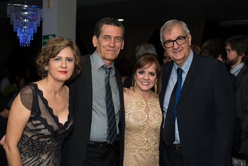 Elvira Nascimento e Mário Carvalho, a executiva de comunicação da Aperam, Soraya da Torre e Willian Saliba