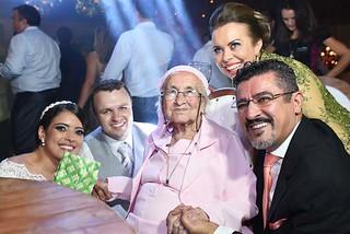 A bisavó da noiva, aos 93 anos, foi abençoar a união