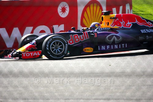Daniel Ricciardo in Free Practice 1 for the 2015 Belgium Grand Prix