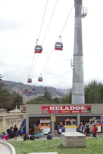 À La Paz, le téléphérique permet de traverser la ville