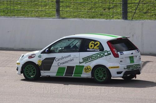 Scott Robertson in Fiesta Racing at Rockingham, Sept 2015