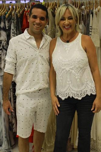 Flavinha e o vendedor Ricardo