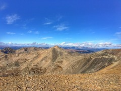 View of Mount Democrat from the summit of Mount Bross.