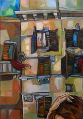 Passeggiata, olio su tela, 35×50, 2005