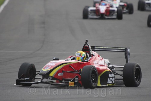Chris Dittmann Racing's Tom Jackson in BRDC F4 race 2 at Donington Park, September 2015