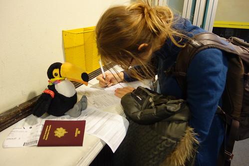 Formalités à la douane, pour obtenir notre visa