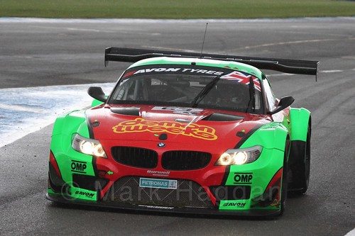 The Team Russia by Barwell Racing BMW Z4 GT3 of Phil Keen and Jon Minshaw in British GT Racing at Donington, September 2015