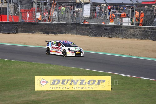 Matt Simpson during the BTCC Brands Hatch Finale Weekend October 2016