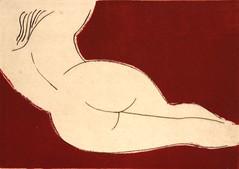 S. BORGOGNI_Nudo in rosso, acquaforte, 2015
