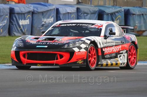 The Professional Motorsport World Expo Ginetta G55 GT4 of Graham Johnson and Martin Robinson in British GT Racing at Donington, September 2015