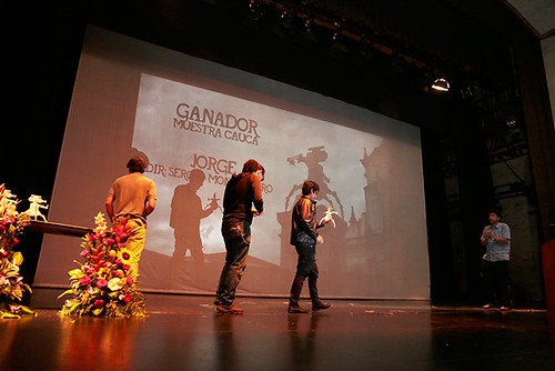 Ceremonia de Clausura. Premio al Documental Jorge. Cauca De-Muestra