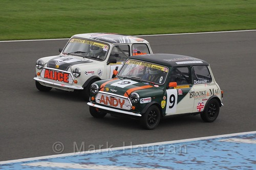 Alice Hughes and Andrew Dickinson in Mighty Minis at Donington Park, October 2015