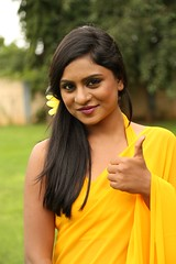 South Actress Deepika Das Hot in Yellow Sari Photos Set-2 (13)