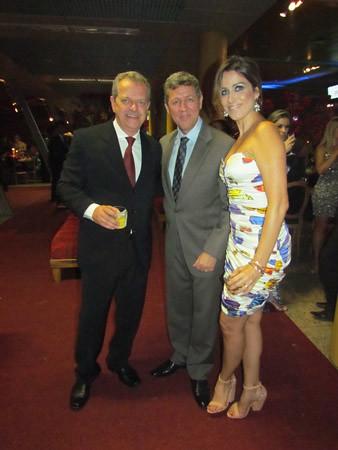 Jainer Tadeu com Leonel Guimarães e Irene