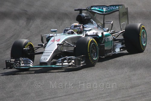 Lewis Hamilton in qualifying for the 2015 Belgium Grand Prix