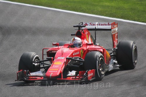 Sebastian Vettel in the 2015 Belgium Grand Prix