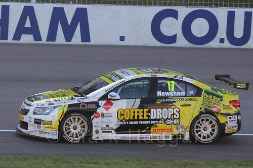 Dave Newsham in BTCC at Rockingham 2015