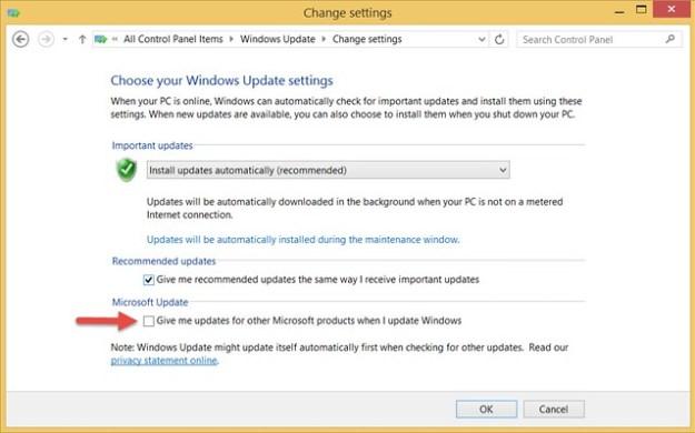Give me updates for other Microsoft products when I update Windows / 更新時給我其他 Microsoft產品的更新