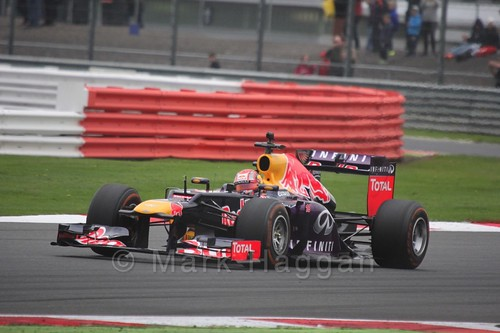 Antonio Felix da Costa takes the Red Bull F1 car for a spin at the WSR